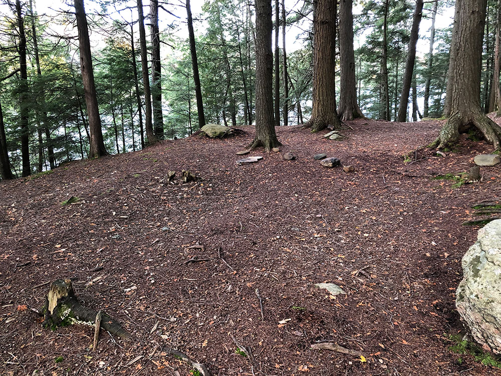 Large tent spot area on Ragged Lake campsite #9