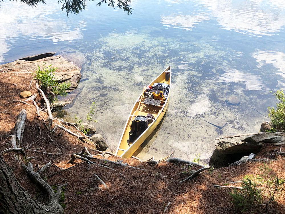 Hambone Lake Campsite 1 Algonquin Park canoe landing