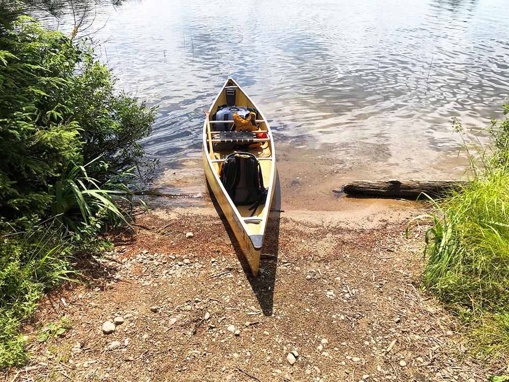 Magnetawan Lake Campsite 2 Algonquin Park canoe landing