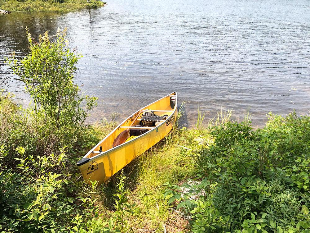 Queer Lake Campsite #1 2021 canoe landing
