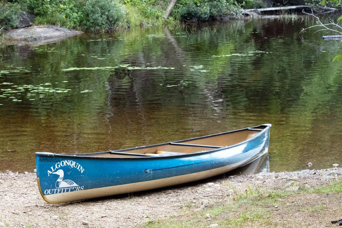 Algonquin Outfitters solo canoe Algonquin Park August 2021 1