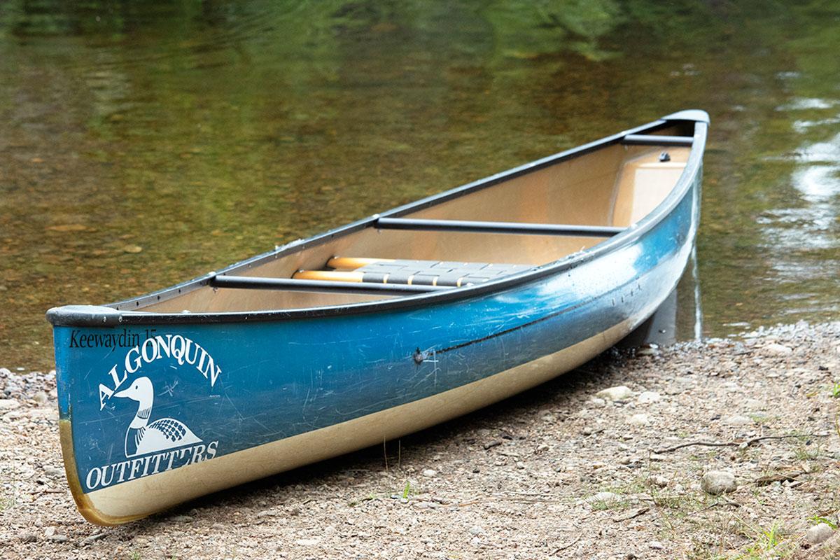 Algonquin Outfitters solo canoe Algonquin Park August 2021 2