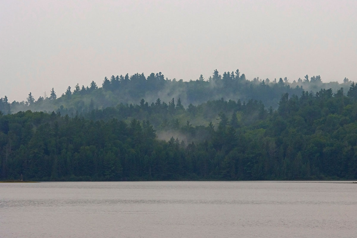 Morning fog on Shirley Lake August 2021 1