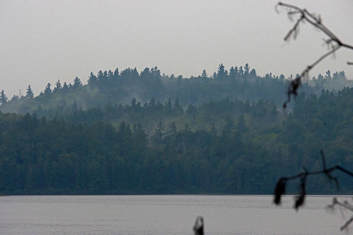 Morning fog on Shirley Lake August 2021 2