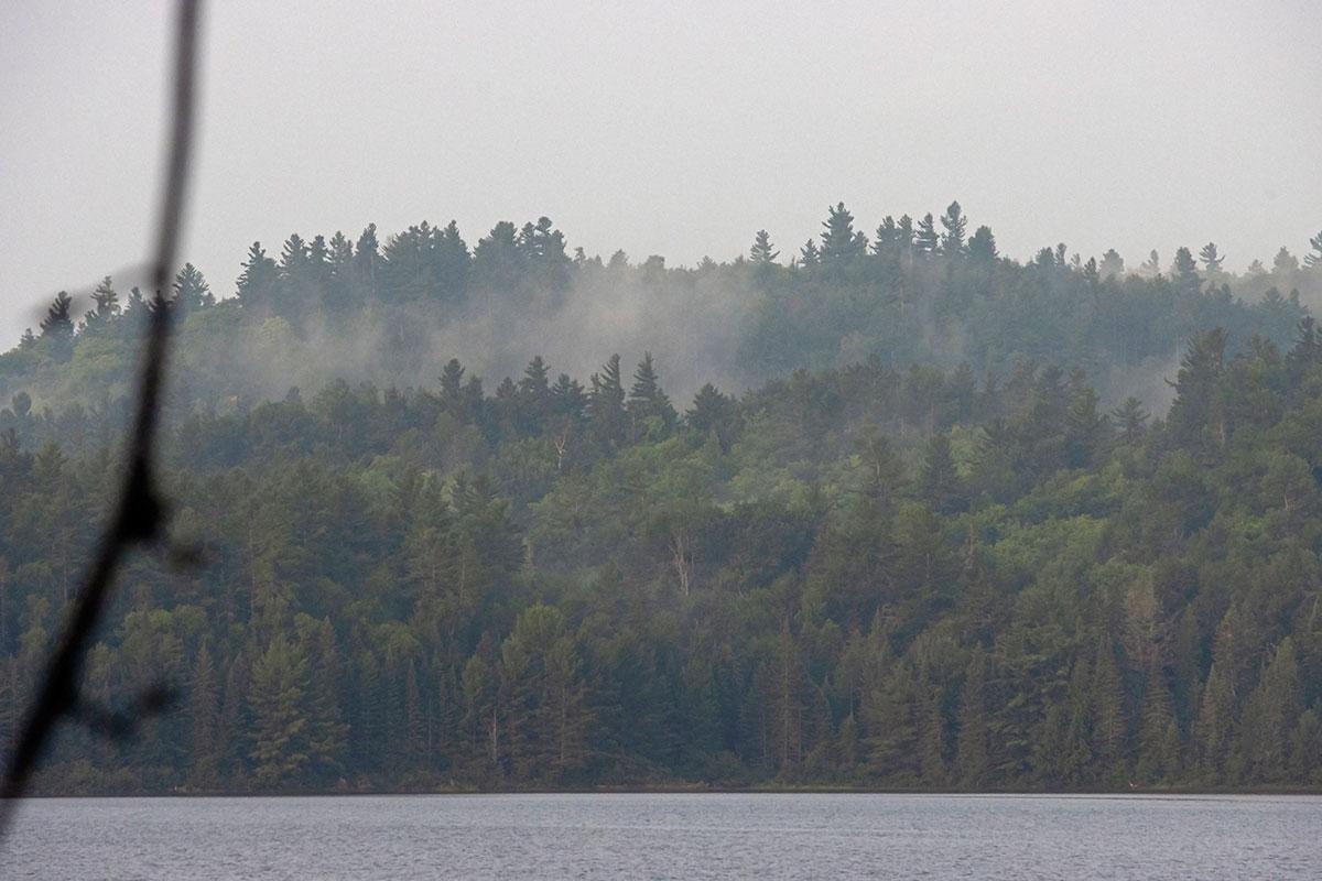 Morning fog on Shirley Lake August 2021 3