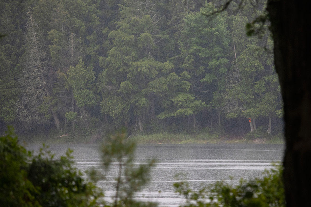Raining on Queer Lake in July 2021 - 1