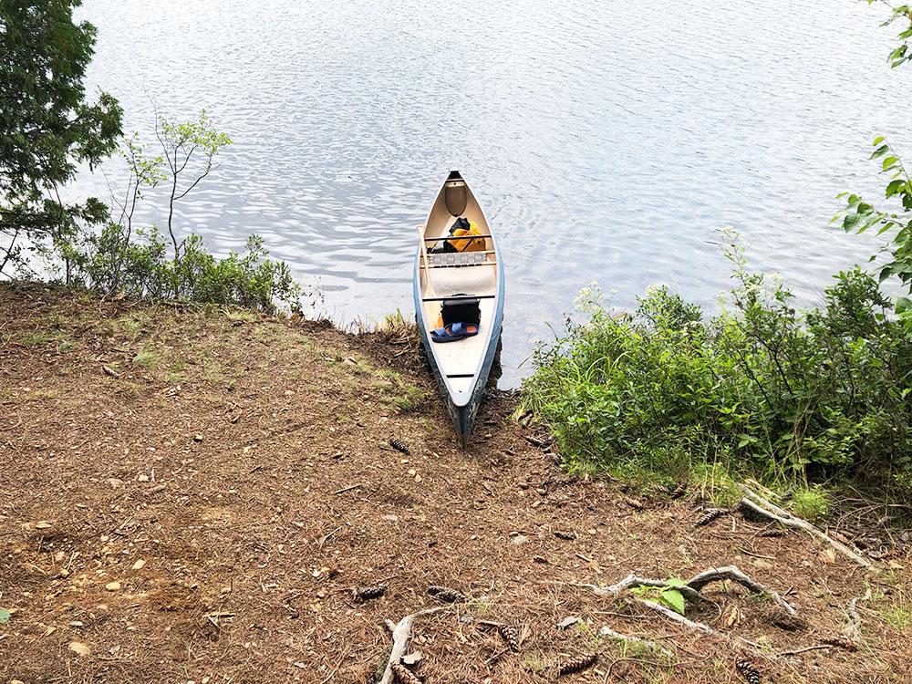 Ryan Lake Algonquin Park Campsite 4 canoe landing