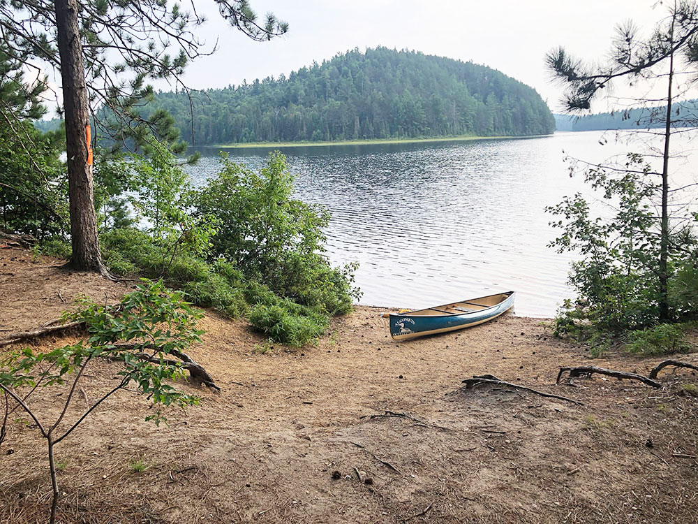 Shirley Lake Algonquin Park Campsite 3 canoe landing