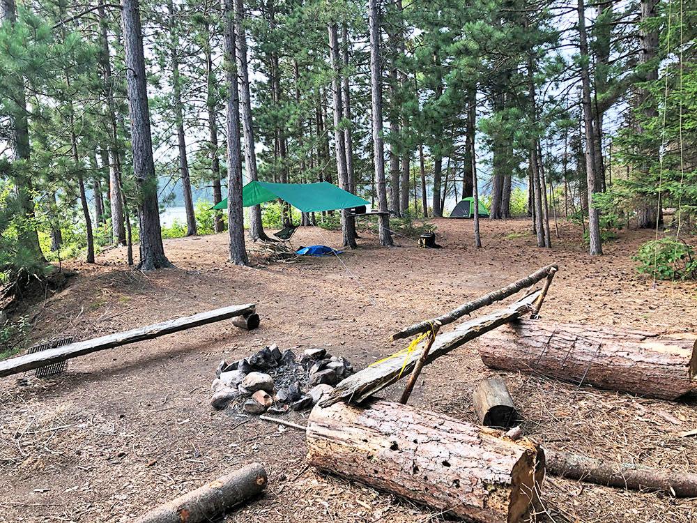 Shirley Lake Algonquin Park Campsite 3 interior of the campsite 2