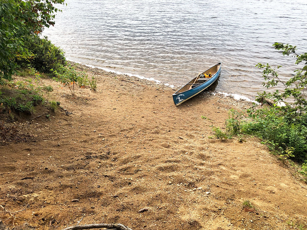 Shirley Lake Algonquin Park Campsite 6 canoe landing