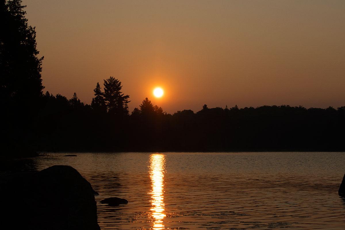 Sunrise on Queer Lake campsite July 2021 Algonquin Park - 4