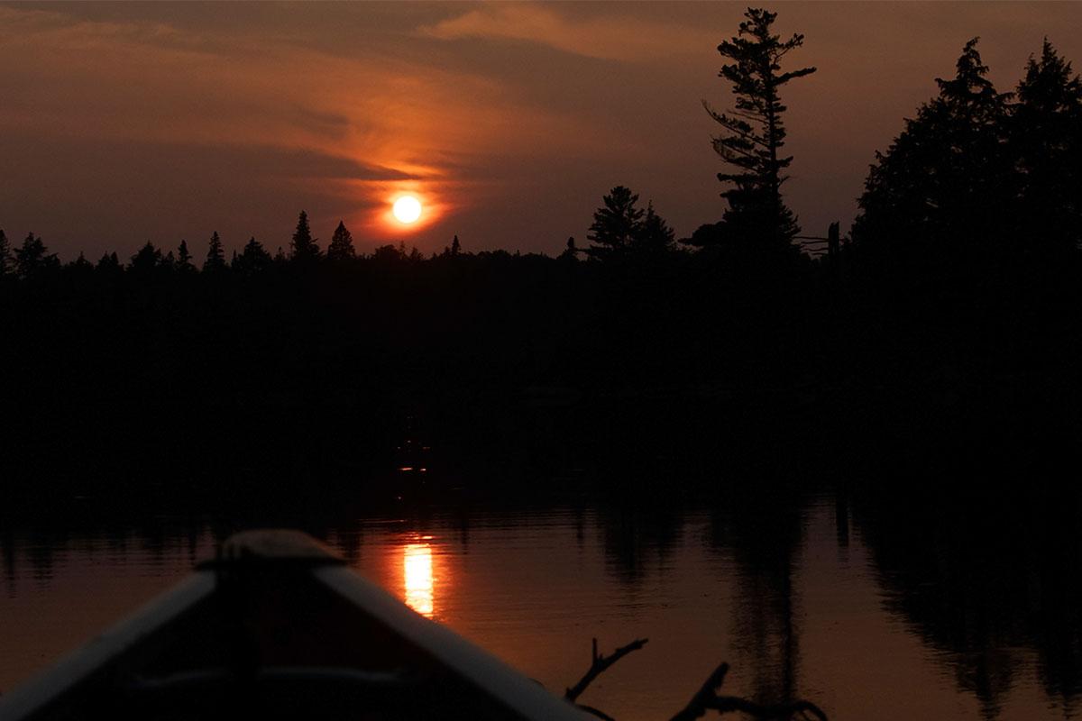 Sunset on Queer Lake campsite July 2021 Algonquin Park - 10