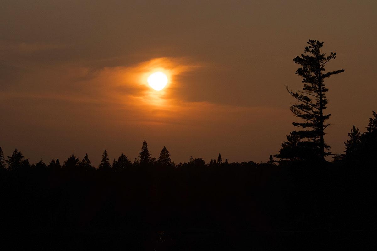 Sunset on Queer Lake campsite July 2021 Algonquin Park - 2