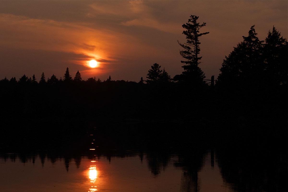 Sunset on Queer Lake campsite July 2021 Algonquin Park - 6