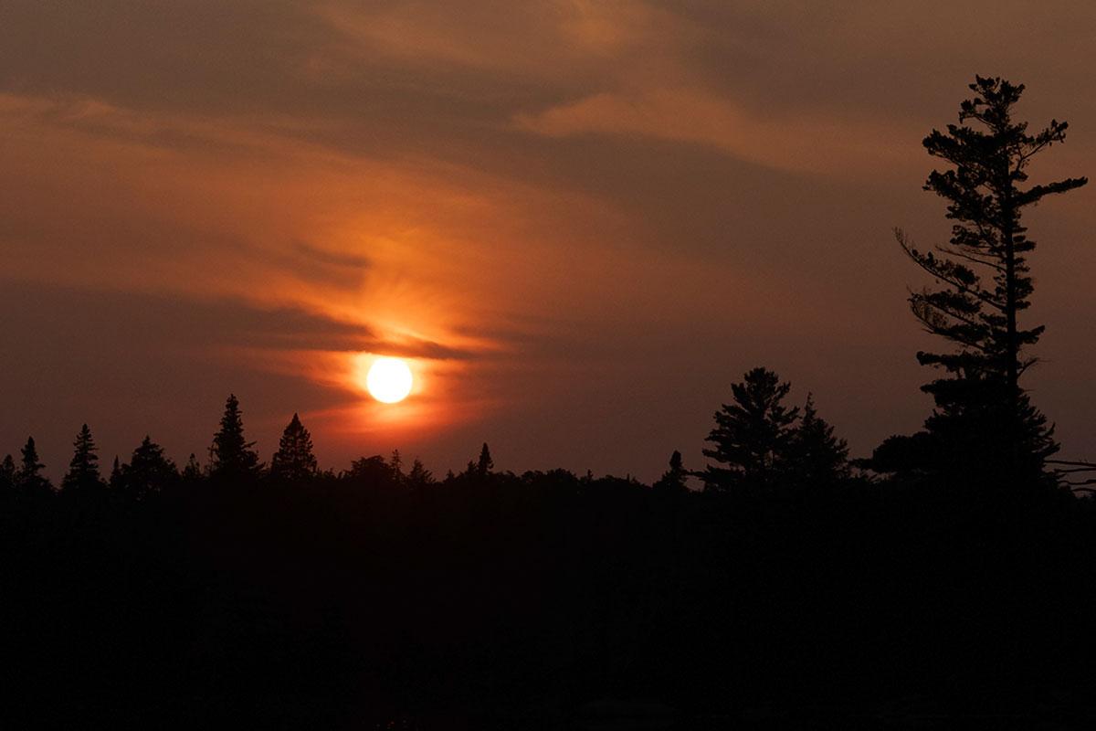 Sunset on Queer Lake campsite July 2021 Algonquin Park - 7