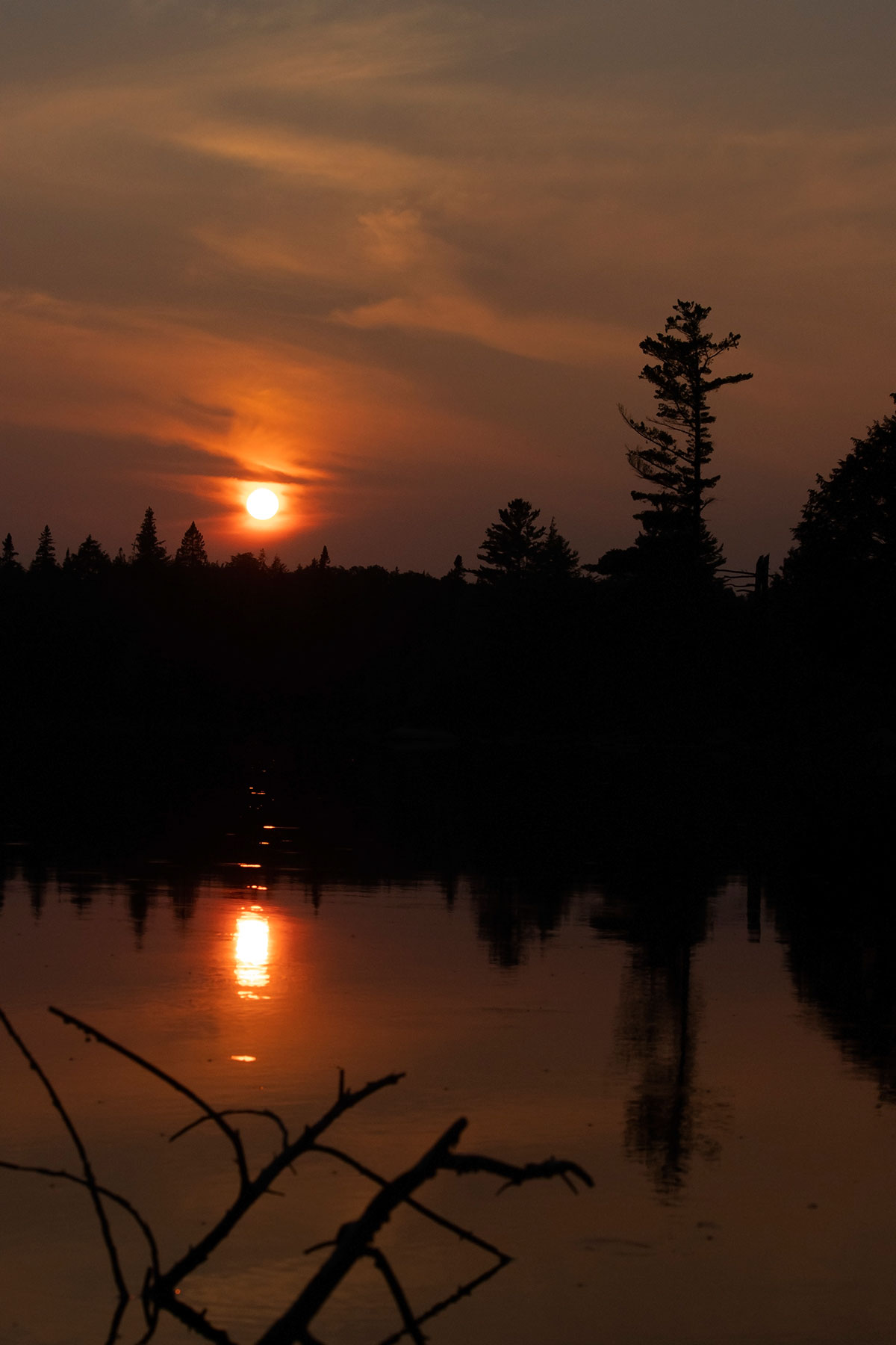 Sunset on Queer Lake campsite July 2021 Algonquin Park - 8